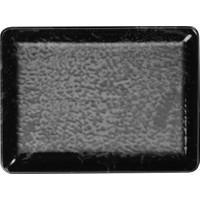 Kütahya Porselen 30X22 cm Diktörgen Servis Tabağı Siyah-2 Adet