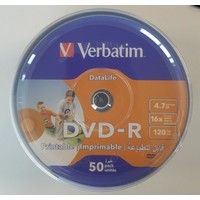 Verbatim Dvd-R 50Lİ Printable Datalife 4,7gb 16X 120MIN (069725-02)