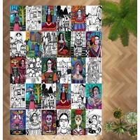Evpanya Frida Gündüz Düşseli Desenli Makinada Yıkanabilir Halı
