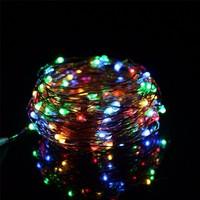 Bahraman Pilli Renkli Peri LED Işık Saçak 10 Metre Dekoratif Aydınlatma (Rgb)