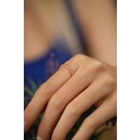 Ninova Silver Örgü Model Rose Kaplama Gümüş İtalyan Yüzük