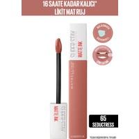 Maybelline New York Super Stay Matte Ink Likit Mat Ruj - 65 Seductress - Nude