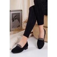 Ayakkabı Frekansı Cedric Babet Siyah Süet