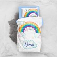 Monohome Rainbow Boys 3D Pamuk Saten Bebek Nevresim Takımı