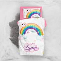 Monohome Rainbow Girls 3D Pamuk Saten Bebek Nevresim Takımı
