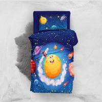 Monohome Moon And Stars 3D Pamuk Saten Bebek Nevresim Takımı