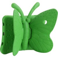 CaseArt Apple iPad Pro 10.5 Renkli Kelebek Standlı Silikon Tablet Kılıfı Yeşil