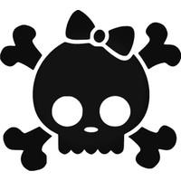 Universal Kuru Kafa ve Ölüm TehlikesiCute Girl Bow Tie Style 4 Sticker Araba Oto Arma Duvar Sticker Ev Dekoratif Çıkartma 20 x 20 cm Siyah