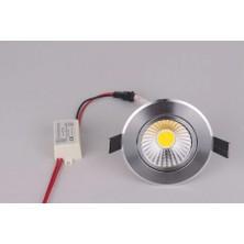Noas 5 Watt Cob LED Spot Krom Kasa Beyaz Işık