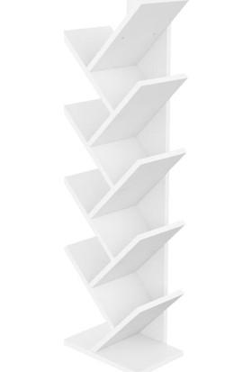 Mimilos K9 Dekoratif 8 Sekiz Çapraz Bölmeli Yaprak Kitaplık