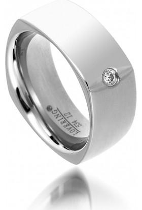 Lovering LVR534B Kadın Çelik Yüzük