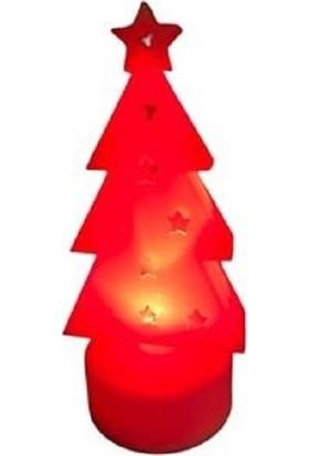 Cakes Party Yılbaşı Çam Ağacı Temalı Tealigt Pilli Mum 3 Lü