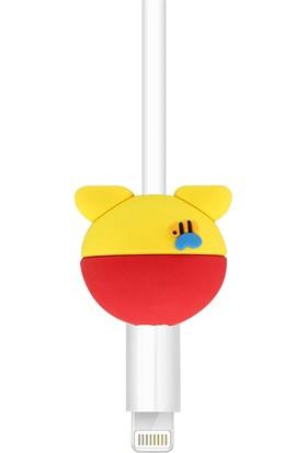 Crnada Winnie The Pooh Silikon Kablo Koruyucu