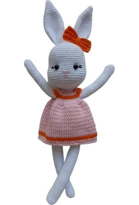 Aysun Yıldız Konbul Amigurumi Organik Örgü Oyuncak Uyku Arkadaşı Tavşan