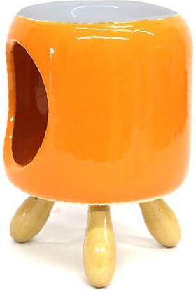 MNK Ahşap Ayaklı Komodin Şeklinde Buhurdanlık Modeli Tamamı Seramik Tütsü Buhurdanlık C0814