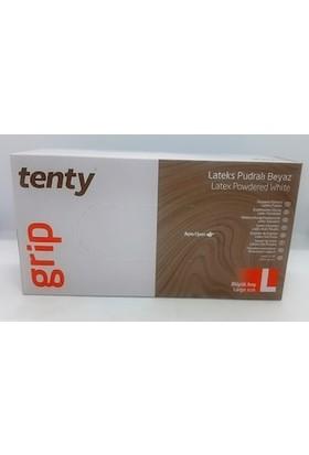 Tenty Grip Tenty Latex Pudralı Eldiven L Bedn 100'LÜ