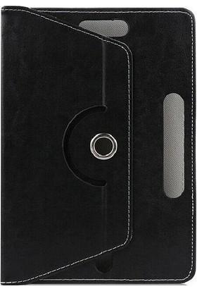 """Tekno Grup Samsung Galaxy Tab S 8.4"""" (T700) Kılıf Dönebilen Standlı Kapaklı Kılıf + Cam Ekran Koruyucu Siyah"""