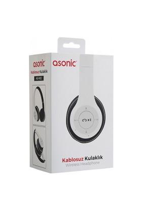 Asonic AS-K02 Bluetooth Kablosuz Kulaklık Beyaz