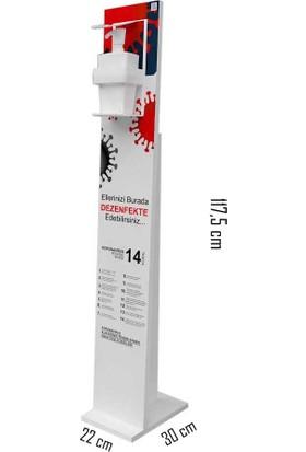 Bayz Dezenfektan Standı 18 mm , Melamin Kaplama 117X22 cm