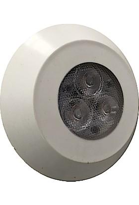 Mega Pool 2 Kablolu Rgb LED ( Osram ) Süs Havuz Aydınlatma Lambaları 7 cm Çap