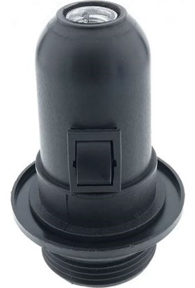 Örgün Siyah Aç Kapa Anahtarlı E27 Duy