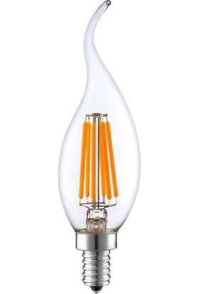 Heka LED Ampul 6W 3000K E14 Kıvrık Uç