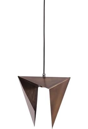 Bun Design Prizmatik Lamba Bronz