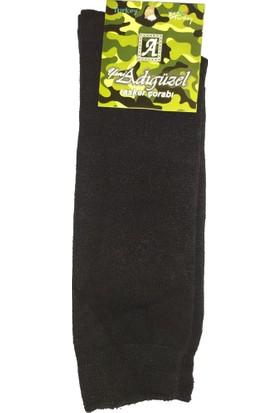 Adıgüzel Erkek Askeri Çorap 12'li Siyah Renk
