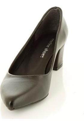 Marine Shoes 078-741 Siyah Cilt - Kadın - Günlük Ayakkabı