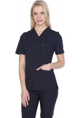 Tıpmod Lacivert Terikoton Kadın Doktor ve Hemşire Forması