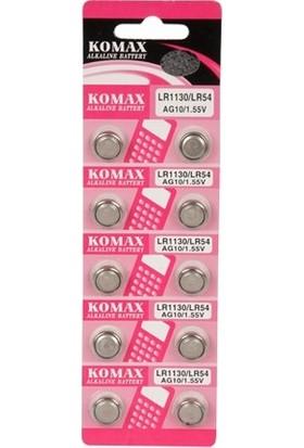 Komax AG10 / LR1130 / LR54 Saat Pili 10 Lu Paket