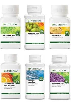 Amway Nutrıway™vitamin B Plus + Vitamin C Plus + Vitamin D + Glucosamine With Boswellia + Omega 3 Complex + Calcium Magnesium D Plus