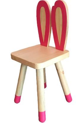 Hamira Masifhayat Chapelet Masif Ahşap Çocuk Sandalyesi Tavşan