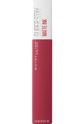Maybelline New York Super Stay Matte Ink Likit Mat Ruj - 80 Ruler - Kırmızı/Pembe