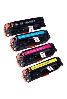 Photo Print Hp Color Laserjet Pro Mfp CP1525NW 4 Renk Renkli Toner Muadil Yazıcı Kartuş 4 Lü Ekonomik Paket CE320A-CE323A
