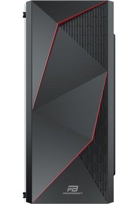 Power Boost VK-G3615C USB 3.0 ATX, ABS Mesh panel, Fixed Rainbow fan, Siyah Kasa (PSU Yok) (JBST-VKG3615C)