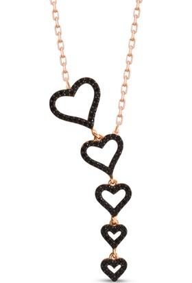 Byeler Süzme Kalp Modeli 925 Ayar Gümüş Kolye