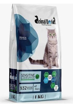 Animal World Sensitive Kuzulu ve Pirinçli Yetişkin Kedi Maması 1 kg
