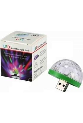 Boğaziçi Disko Topu Sese Duyarlı USB Çıkışlı Rgb