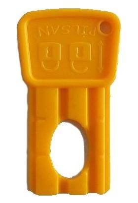 Pilsan Akülü Araba Kartlı Kontak Anahtar Sarı