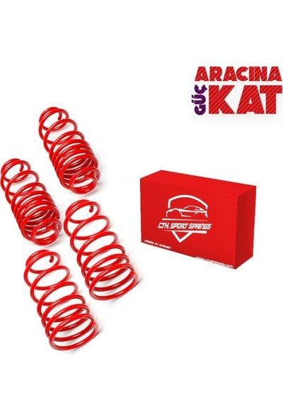 Blueoto Ford Focus 2 Hb (2008-2011) 50 mm Spor Helezon Yay Ctk Spor Springs 4 Lü Set 5 Yıl Garantili Blueoto
