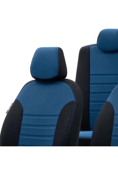 Otom Renault Clio 3 Sw 2006-2012 Özel Üretim Koltuk Kılıfı Original Design Mavi - Siyah