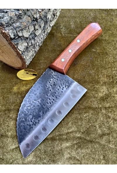 Taşçı Bursa Dövme Çelik Şef Bıçağı Almazan Modeli 30 cm