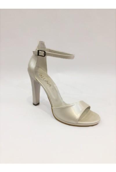 Allina Gümüş Tek Bant Ayakkabı
