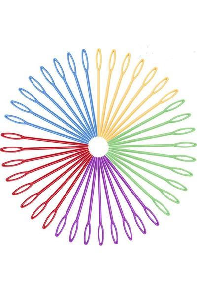 Hep En Uygun Plastik Yün İğnesi - Hobi İğnesi - Çocuklar İçin Eğitici İğne 100'lü