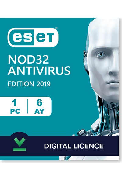 Eset NOD32 Antivirus 2020 Dijital Lisans - 180 Gün - 1 Pc