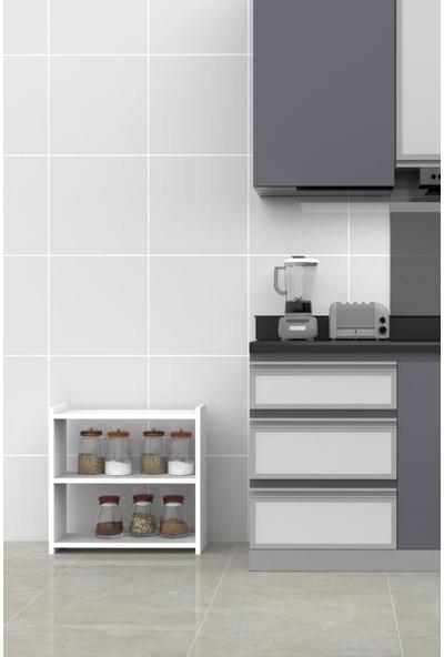 Mimilos R2 Dekoratif Mutfak Tereği Tezgah Terek Baharat Rafı