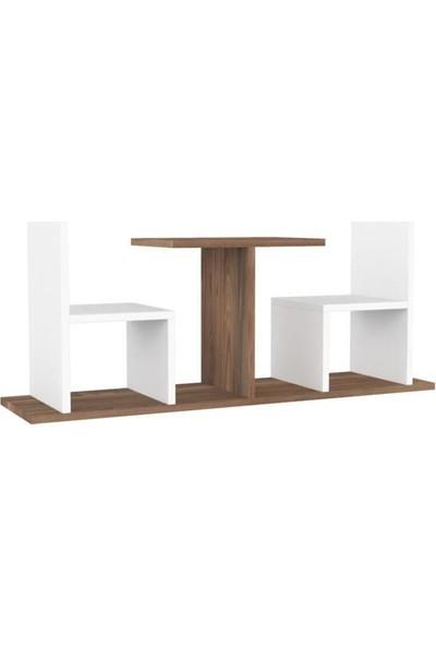 Mimilos R6 Masa Sandalye Detaylı Dekoratif Mutfak Duvar Rafı