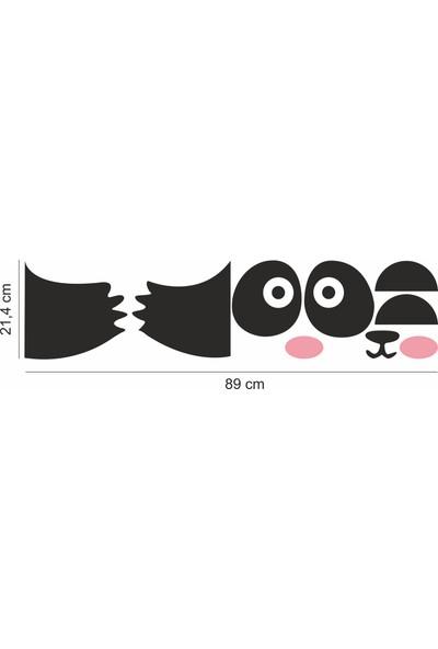 Elka Bayrak Panda Kapı Sticker