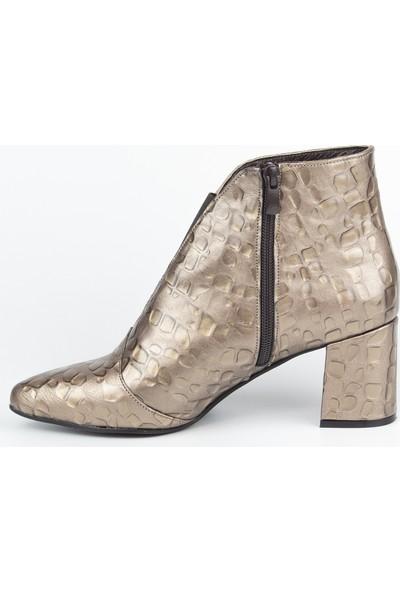 Marine Shoes Kadın Vizon Damla Deri Bot